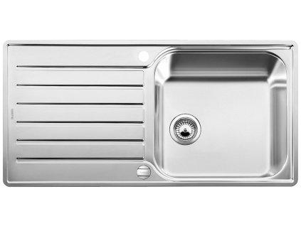 Nerezový dřez Blanco LANTOS  XL 6 S-IF  nerez kartáčovaný oboustranné provedení s excentrem