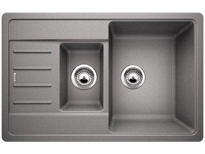Granitový dřez Blanco LEGRA 6 S Compact Silgranit aluminium oboustranné prov. 521303