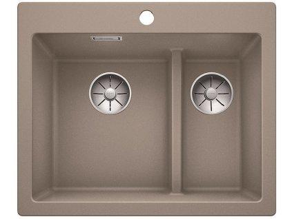 Granitový dřez Blanco PLEON 6 Split InFino Silgranit tartufo 521696