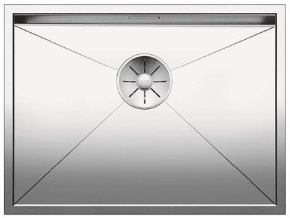 Nerezový dřez Blanco ZEROX 550 U InFino Nerez hedvábný lesk bez táhla C-Overflow 521591