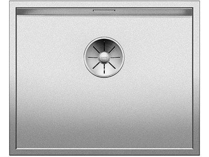 Nerezový dřez Blanco ZEROX 500 U InFino DURINOX bez táhla C-Overflow 521559