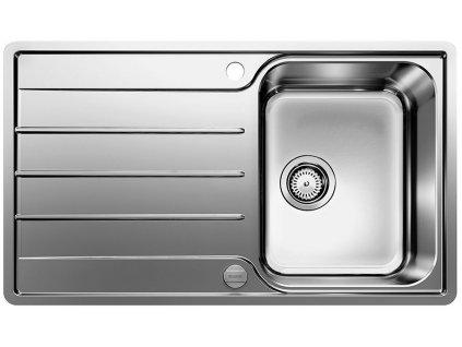 Nerezový dřez Blanco LEMIS 45 S-IF nerez kartáčovaný s excentrem 523031