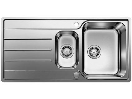 Nerezový dřez Blanco LEMIS 6 S-IF nerez kartáčovaný s excentrem 523033