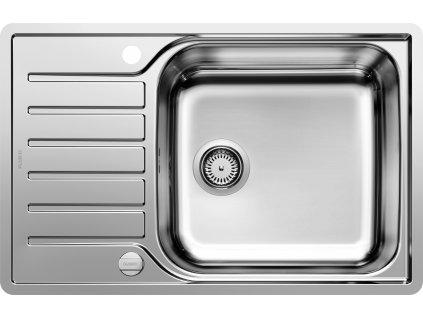 Nerezový dřez Blanco LANTOS XL 6 S-IF Compact nerez kartáčovaný oboustranné provedení s excentrem 523140