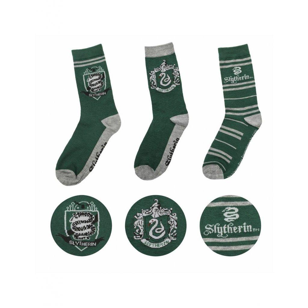 harry potter socks 3 pack slytherin