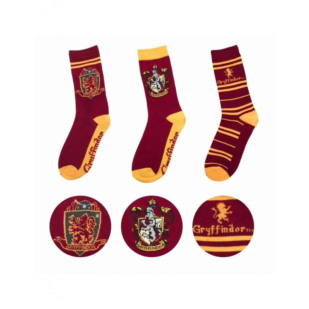harry potter socks 3 pack gryffindor