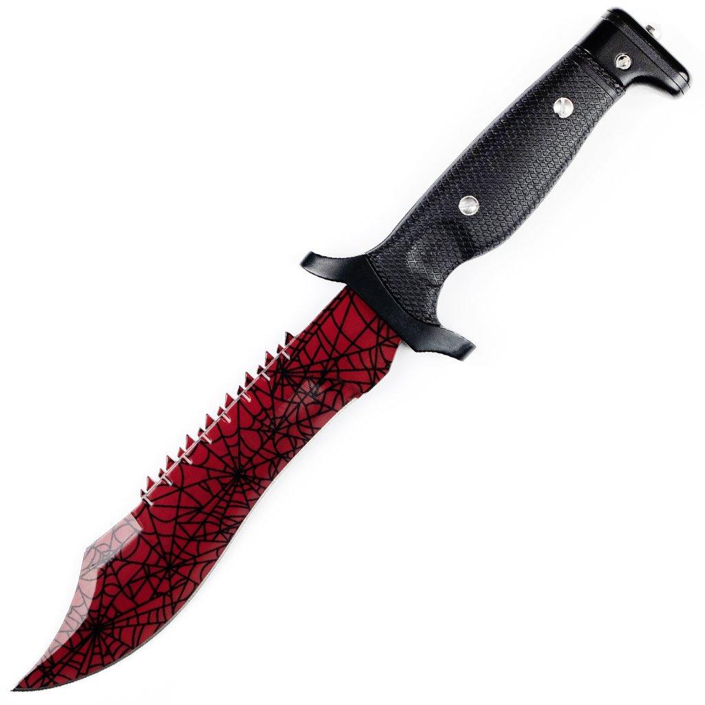 Bowie knife Crimson web