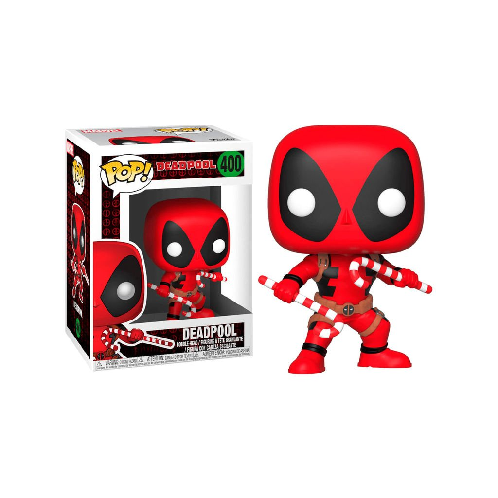 Funko POP! Marvel: Holiday Deadpool with Candy Canes  Funko POP!