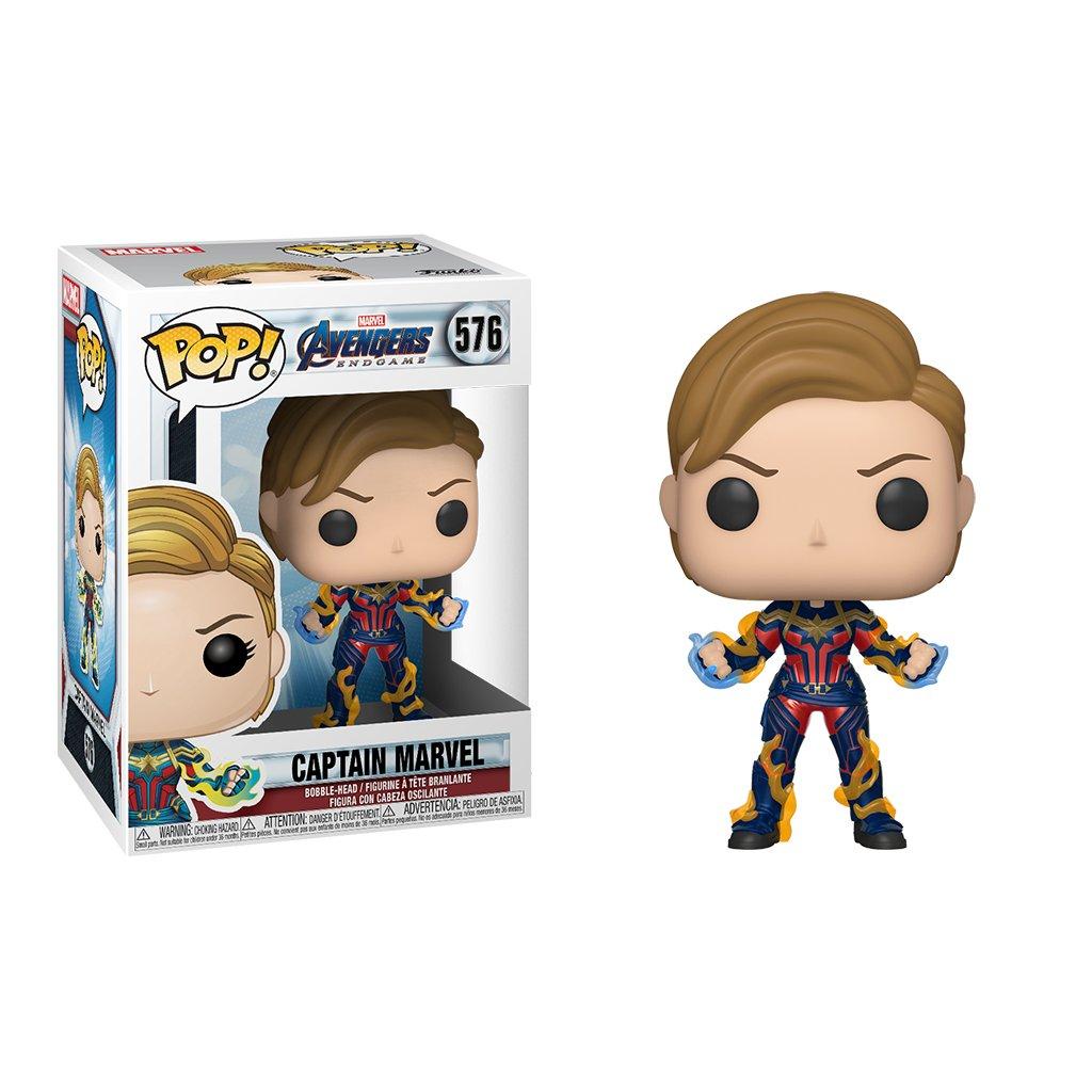Funko POP! Marvel Avengers: Avengers Endgame Captain Marvel with New Hair  Funko POP!
