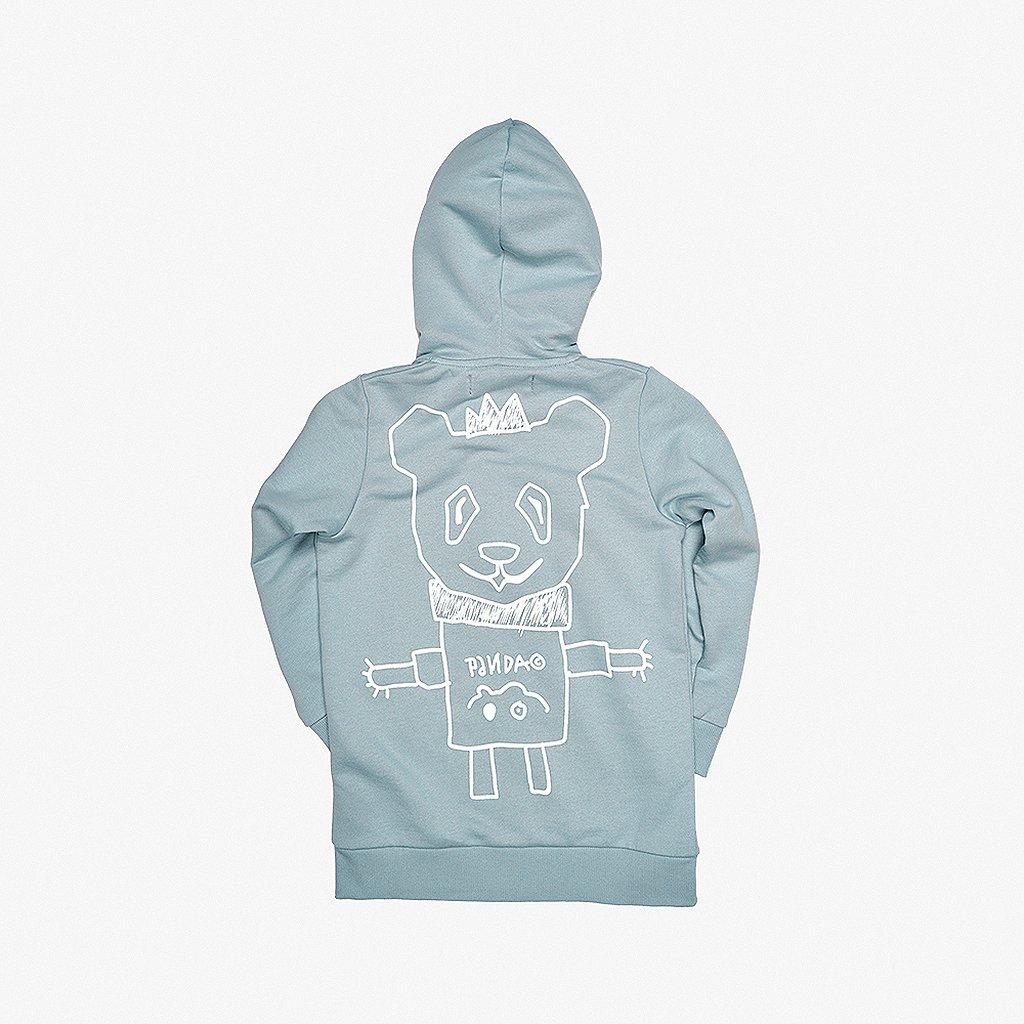 Scratch Zip Hoodie Blue 01