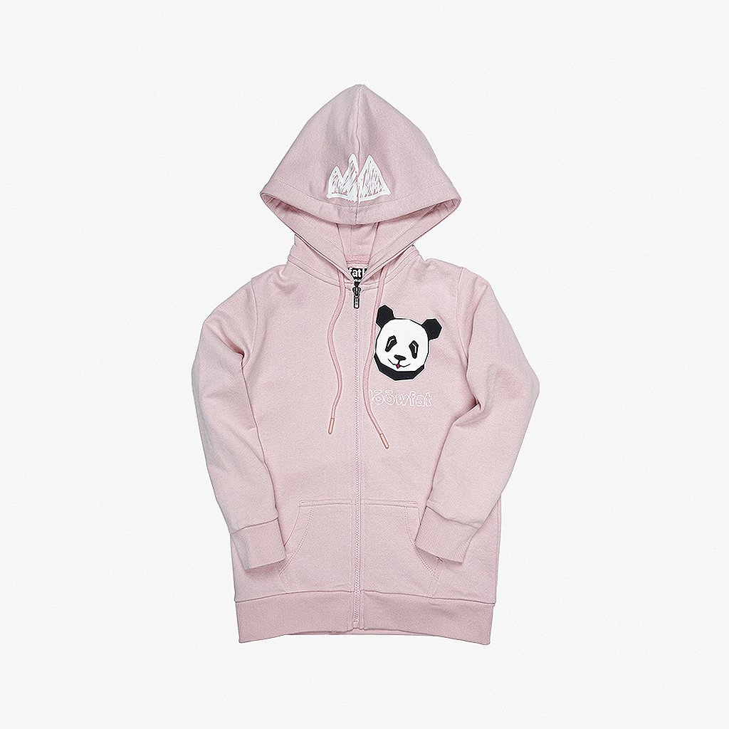 Scratch Zip Hoodie Pink 01