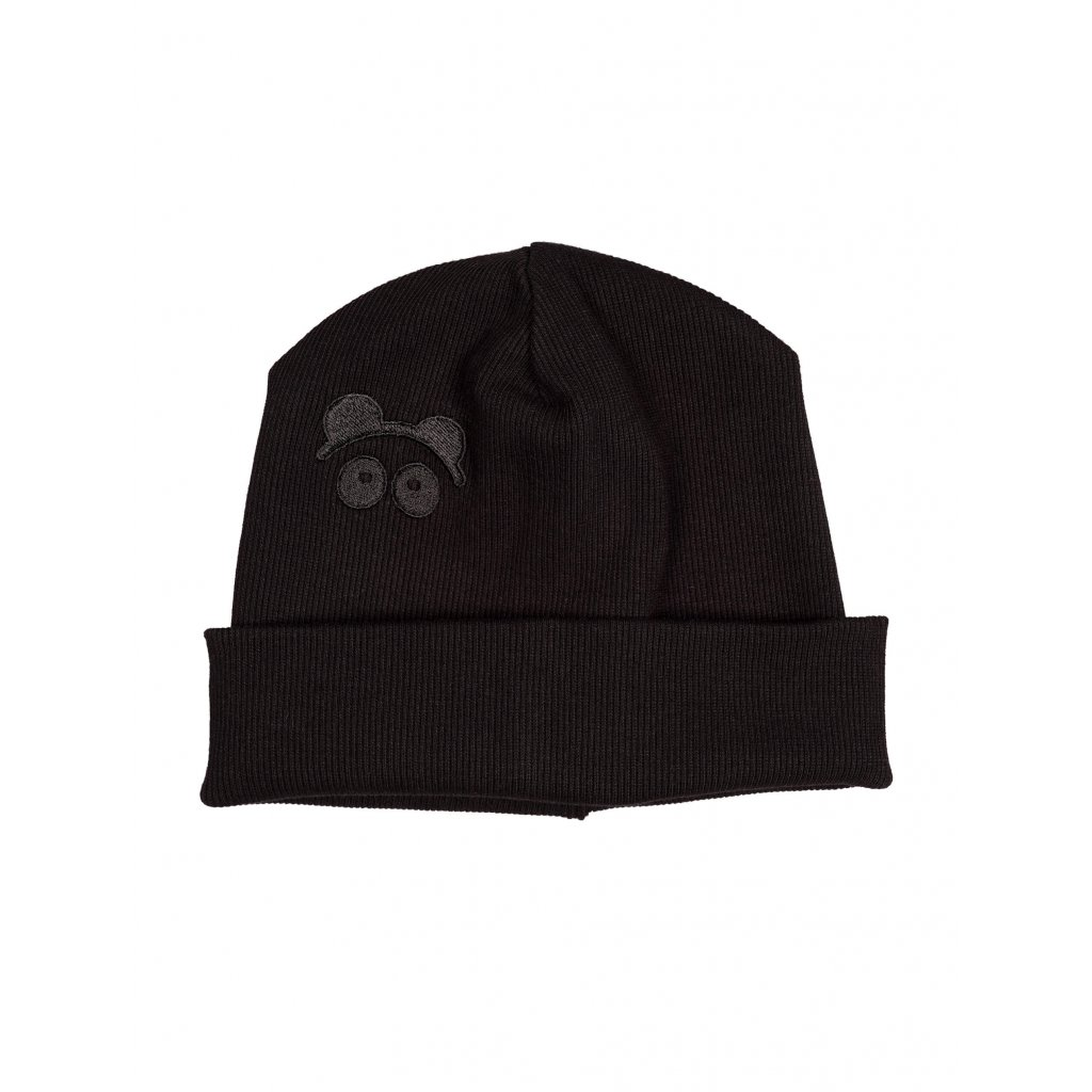 Rib Beanie Black 01