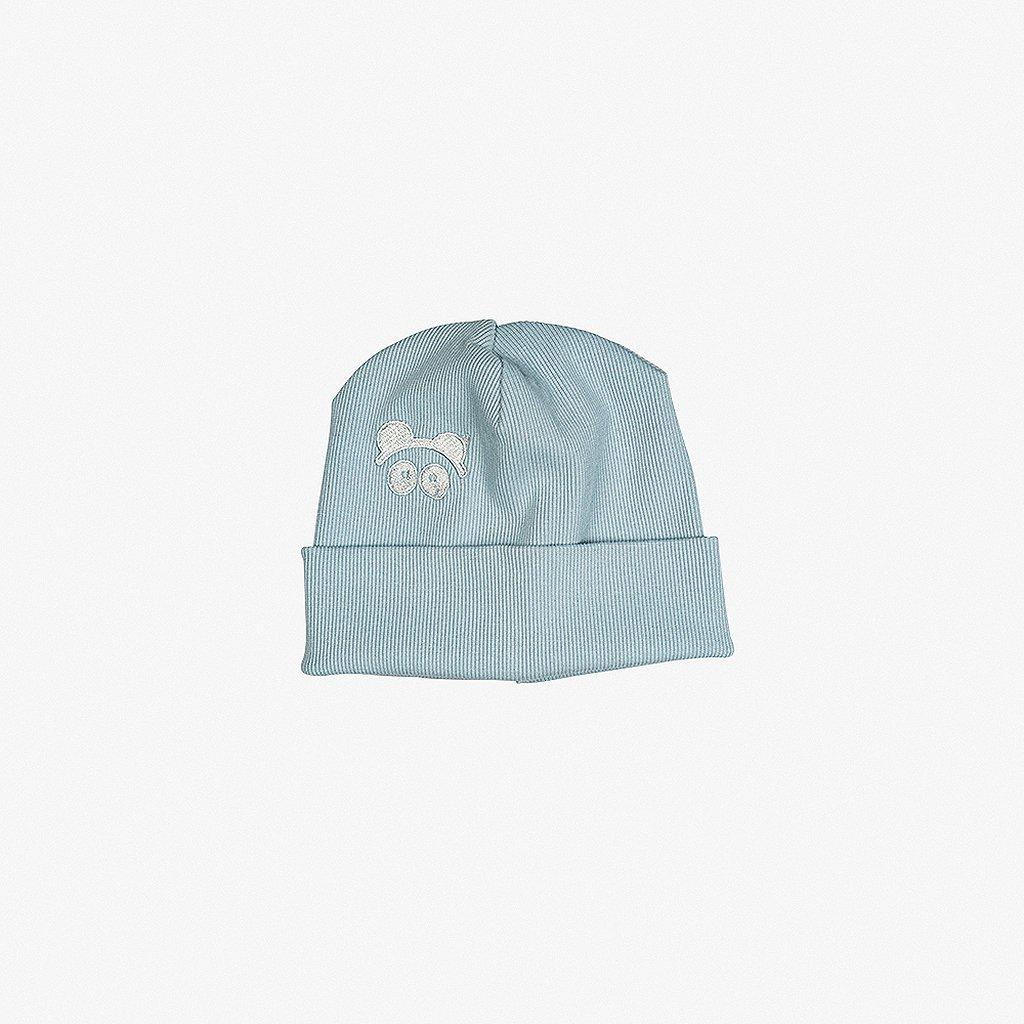 Rib Beanie Blue 01