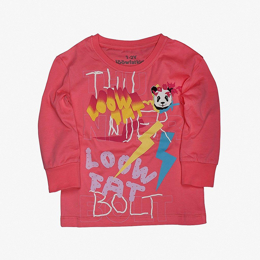 KIDS Thunderbolt T shirt PINK 01
