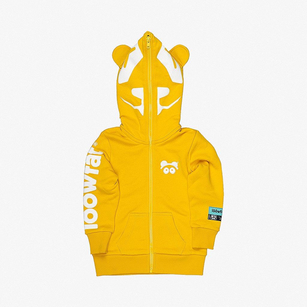 KIDS Panda R Hoodie YLW 01