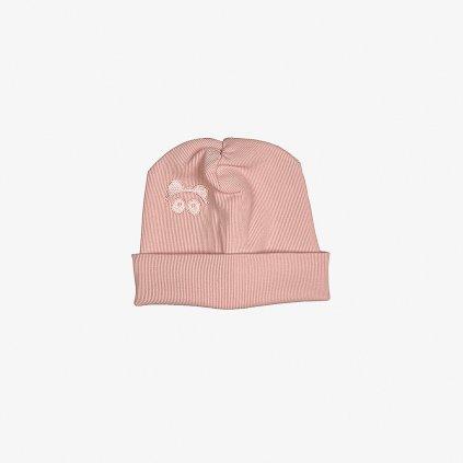 Rib Beanie Pink 01