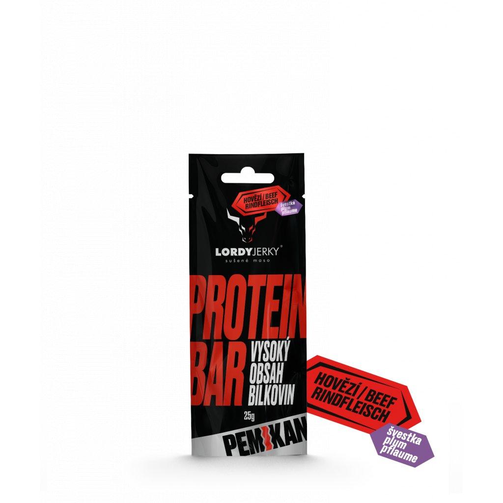 HOVĚZÍ tyčinka PEMIKAN ŠVESTKA (Protein Bar) 25g