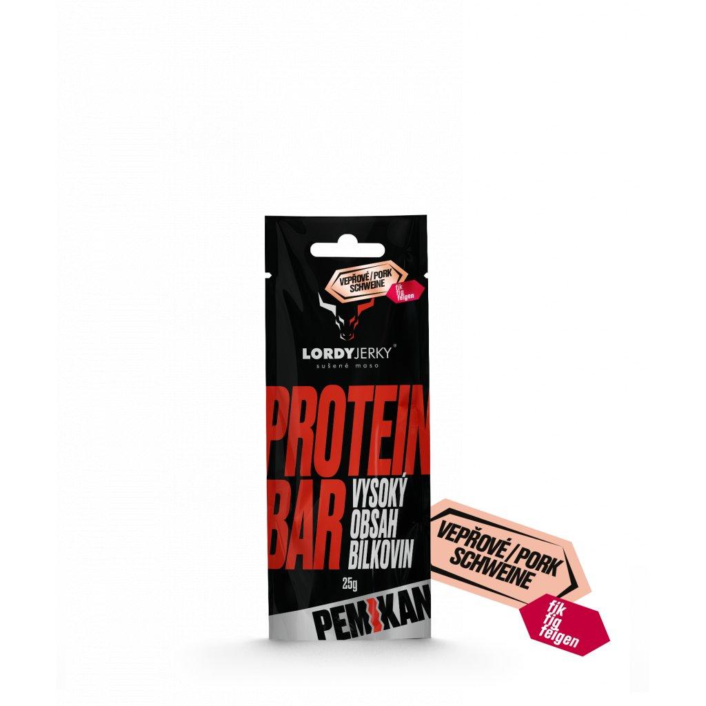 VEPŘOVÁ tyčinka PEMIKAN FÍK/CHILLI (Protein Bar) 25g
