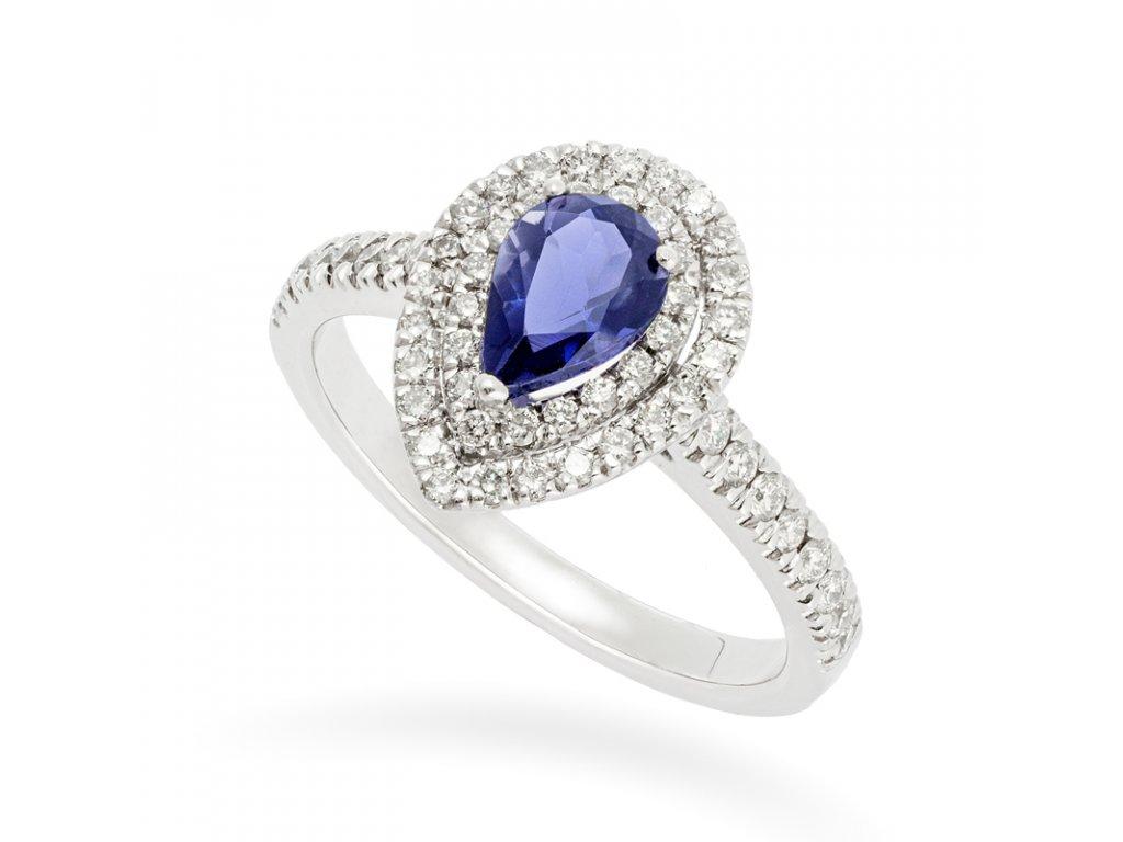 Iolite & Diamond de Luxe Ring