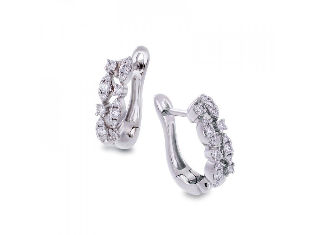 kolekce Luxury Lines. náušnice Irisia Diamond Duo Earrings