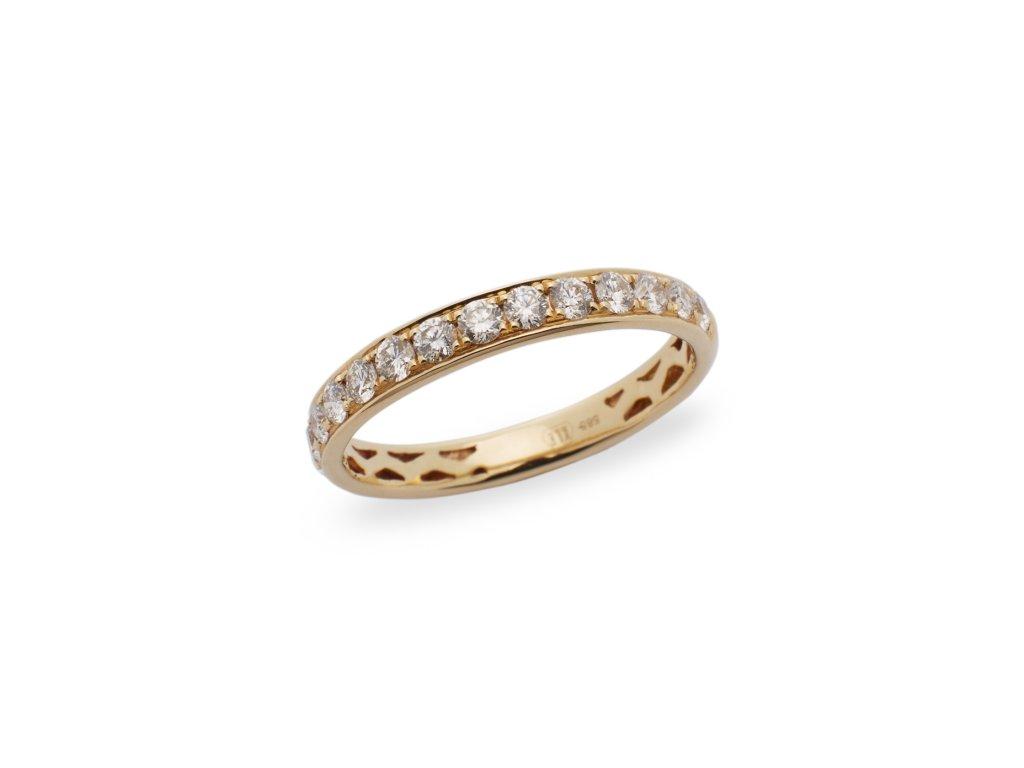 kolekce Luxury Lines Prsten French Style YG 0,60 CT žluté zlato 14K