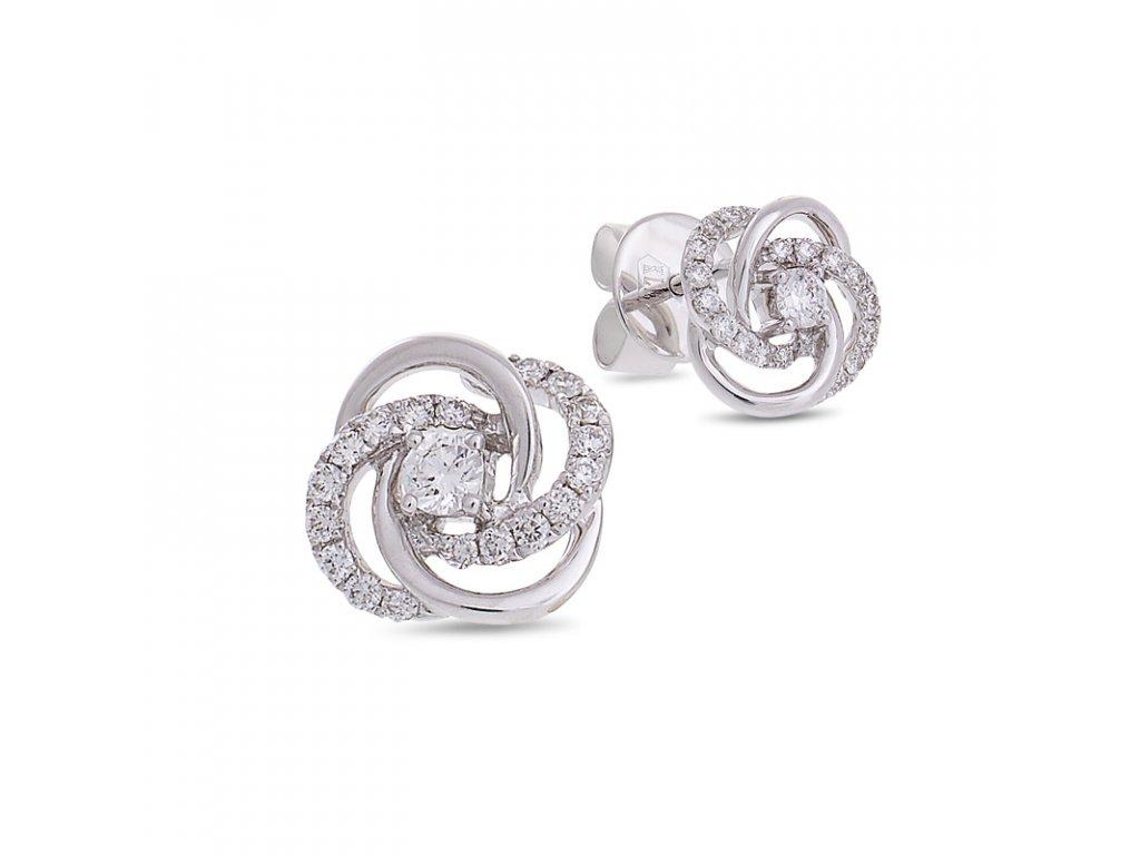 Diamond Knot Earrings