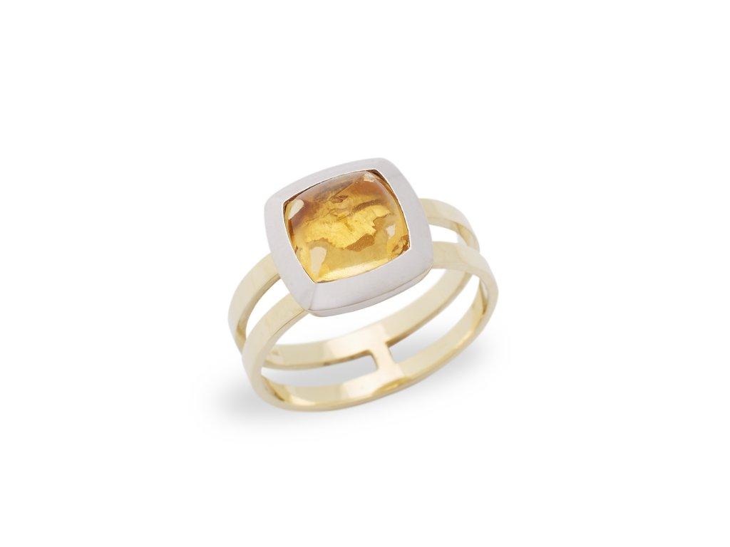 kolekce Loriginal prsten Marbles Solar žluté zlato