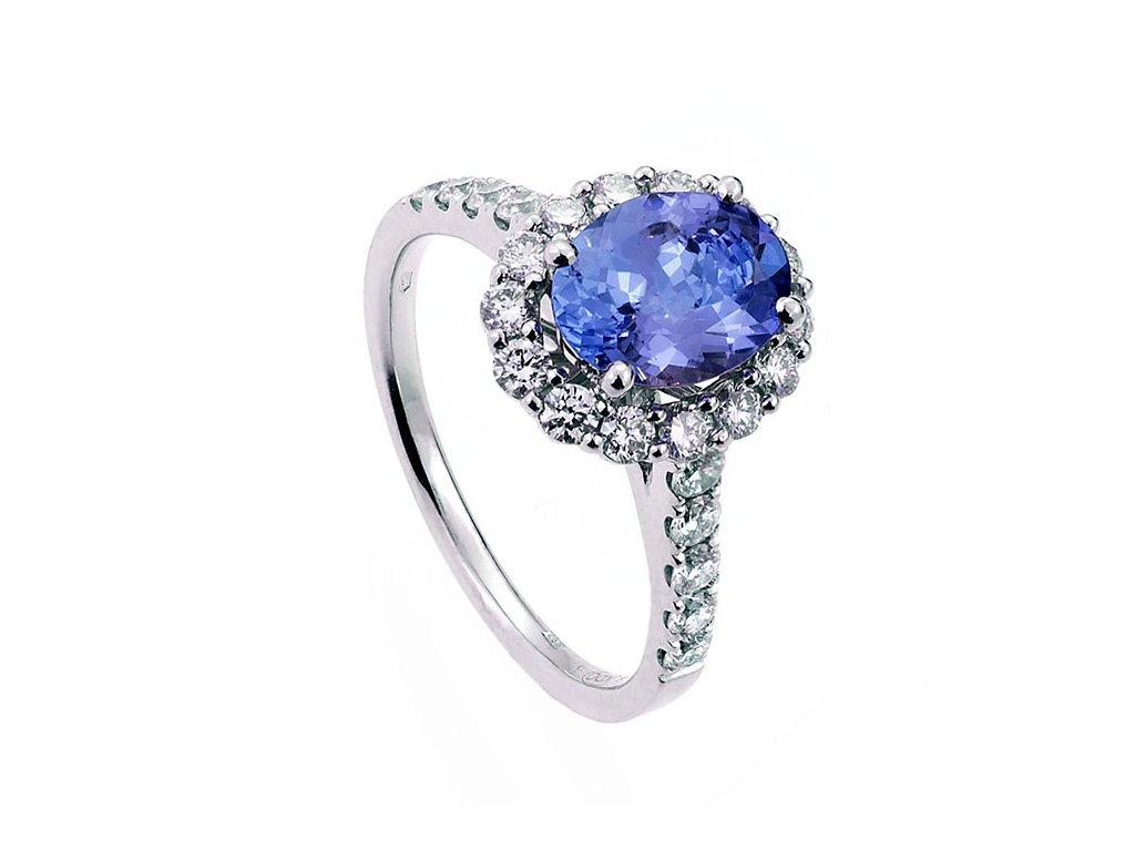 Tanzanite & Diamonds de Luxe Ring