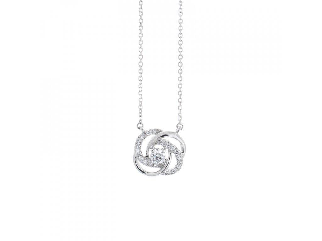 kolekce Loriginal náhrdelník Diamond Knot Náhrdelník bílé zlato 14K