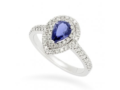 Iolite & Diamond de Luxe Ring