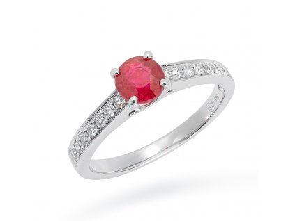 Leontine Ruby & Dimaond Ring