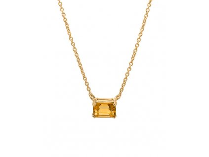 kolekce Loriginal náhrdelník Aura Citrine de Luxe Chain žluté zlato 14K