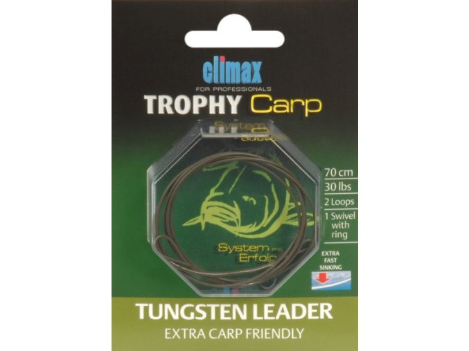 Climax Trophy Carp Tungsten Leader Extra Carp Friendly