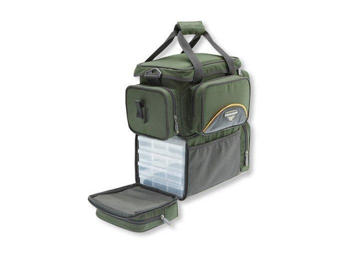 Cormoran taška zpevněná dvoupatrová na nástrahy s krabičkami 5004 40x24x39 cm