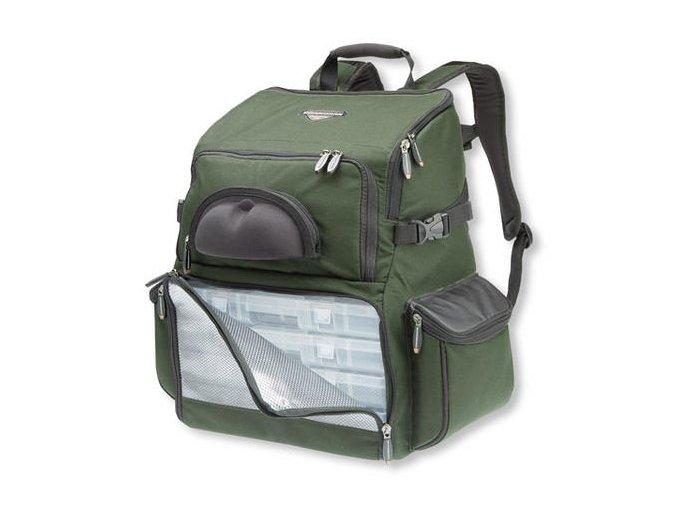 Cormoran batoh zpevněný dvoupatrový na nástrahy s krabičkami 5005 40x24x39 cm