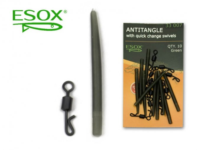 ESOX ANTITANGLE WITH QUICK CHANGE SWIVELS, 10 ks