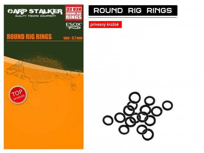 Esox Round Rig Rings 3,7 mm