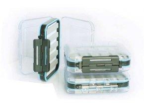 Modrá malá muškařská krabička 125x100x42mm