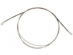CORMORAN lanko 1x7 ocelové barva hnědá - dvě očka 50 cm