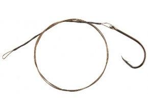 CORMORAN lanko 1x7 ocelové barva hnědá - s očkem a háčkem 50 cm