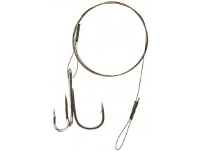CORMORAN lanko 1x7 ocelové barva hnědá - s očkem a trojháčkem 50 cm