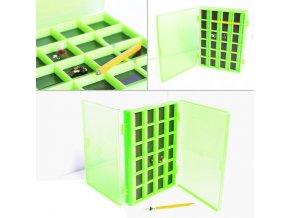 Krabička zelená magnetická