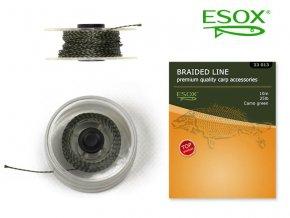 ESOX BRAIDED LINE CAMO GREEN, 10 m/25 lb
