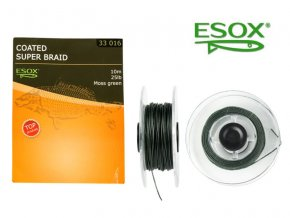 ESOX COATED SUPER BRAID MOSS GREEN, 10 m/25 lb