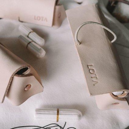 Luxusní kožené pouzdro LOTA na tampony