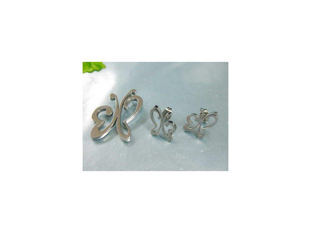 SE3136OC - Motýliky - set z chirurgickej ocele - Lotka.sk 3e2763c17a1