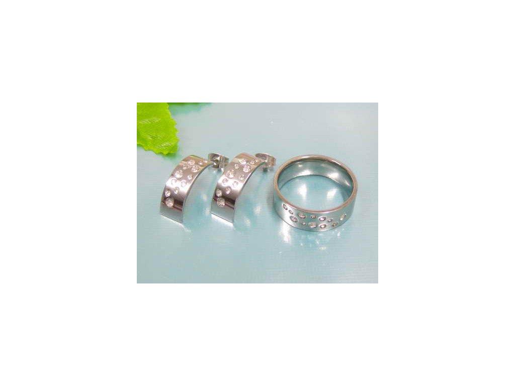 SE3153ZOC ocelovy set prsten nausnice so zirkonmi eb7ccb79d9b