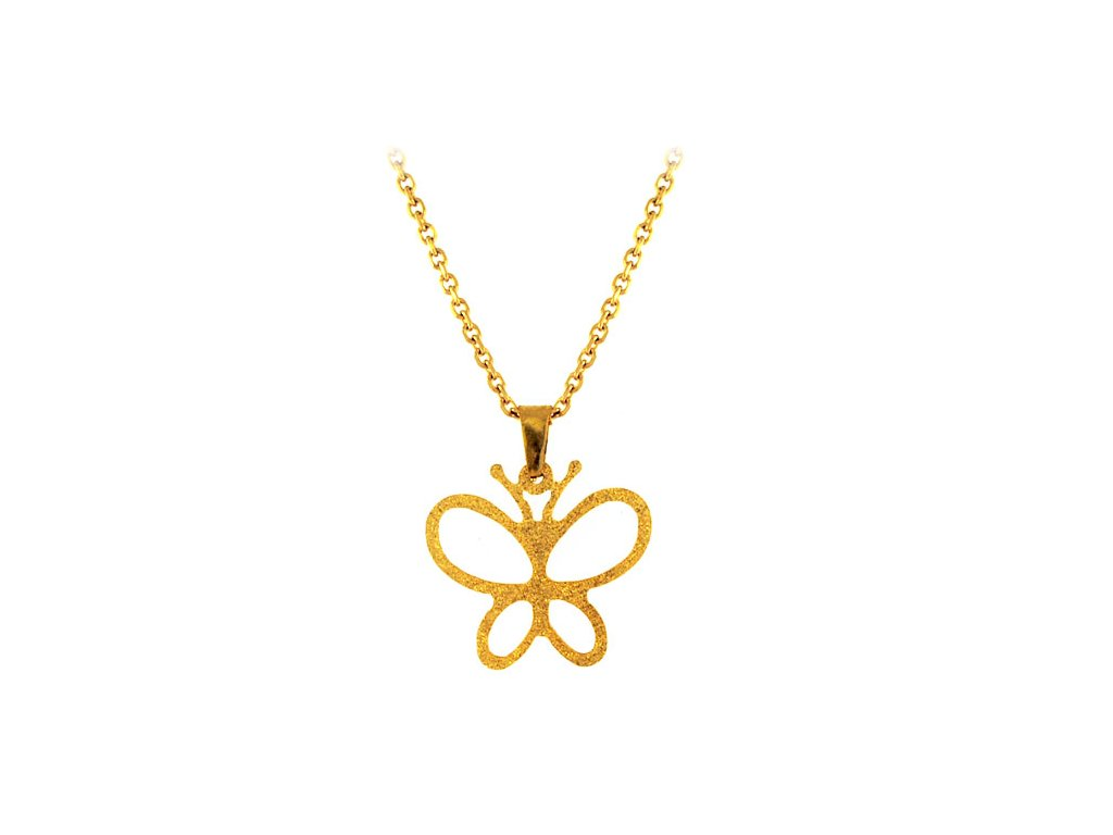 NH3256GOC Motýlik - náhrdelník z chirurgickej ocele - Lotka.sk ff9adbcea3e