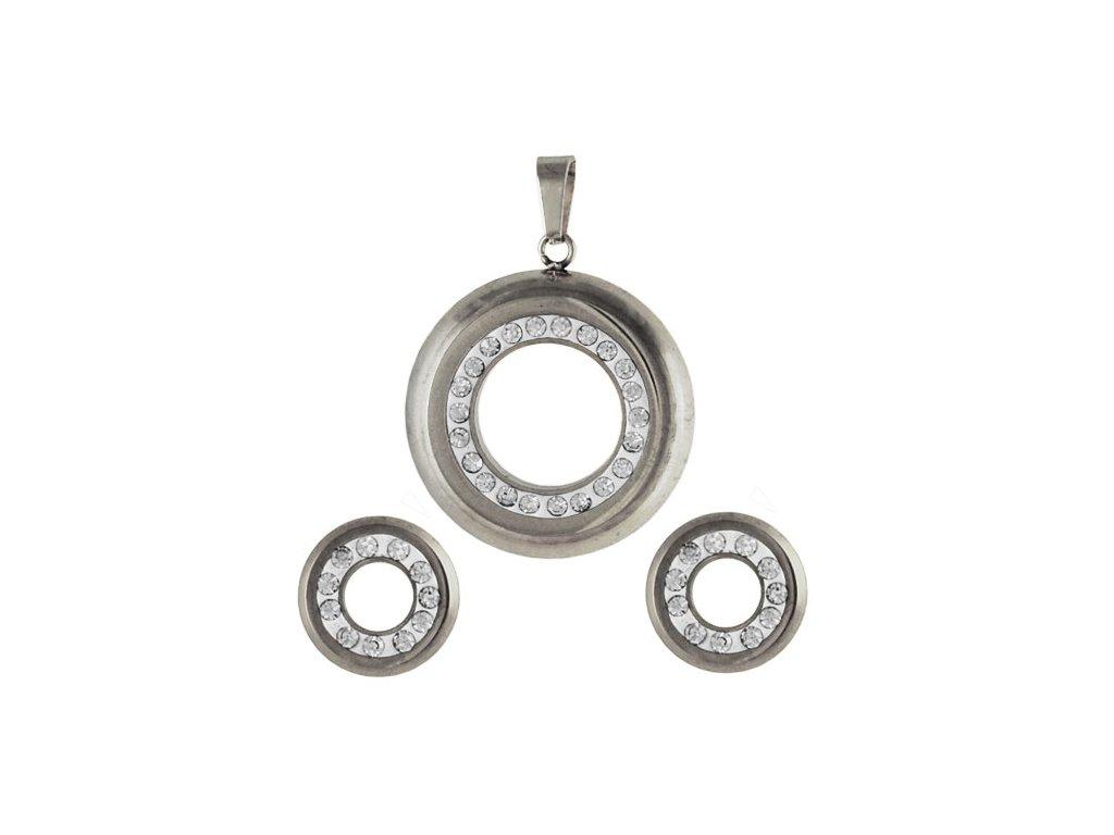 SE3173ZOC - Kruhy - set z chirurgickej ocele so zirkónmi - Lotka.sk b89dfe216cb