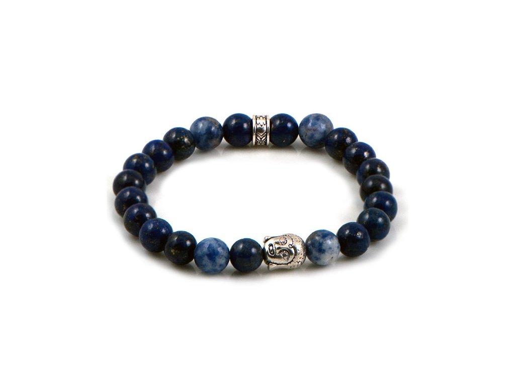 49cb54f6a NRB0021 Buddha náramok s Lapis Lazuli - Lotka.sk